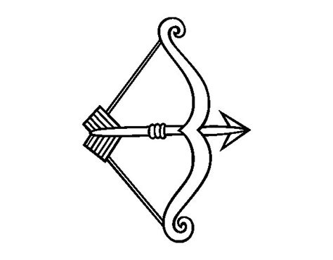 coloring page of bow and arrow bow and arrow coloring pages