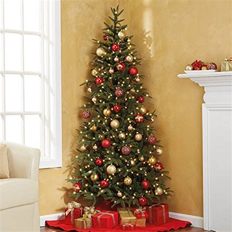 fraser fir corner artificial pre lit christmas tree