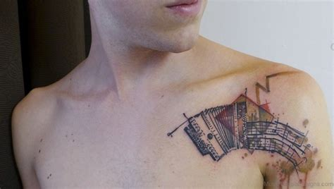 accordion tattoo 51 amazing tattoos on chest