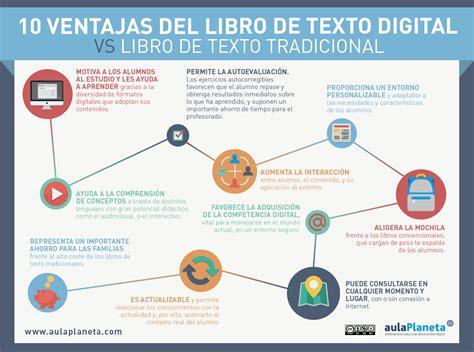 libro meta ele libro del libro de texto digital vs libro de texto tradicional infografia infographic education tics