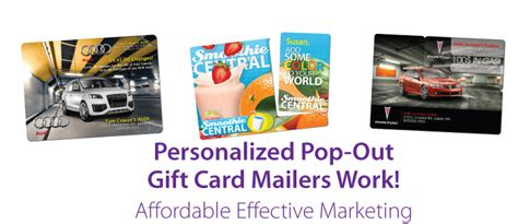 Plastic Gift Card Mailers - marketing services fairfax virginia washington dc undercoverprinter
