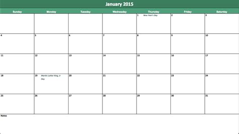 january calendar template 2015 january 2015 new calendar template site