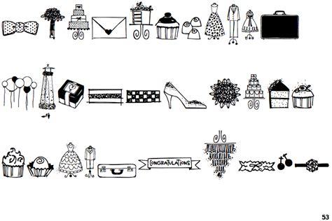 Wedding Font Doodles by Identifont Wedding Doodles