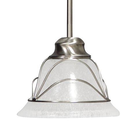 Seeded Glass Pendant Lights Shop Volume International 8 In Brushed Nickel Vintage Mini Seeded Glass Bell Pendant At