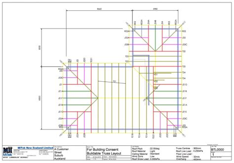 mitek introduces new buildable truss layout service by