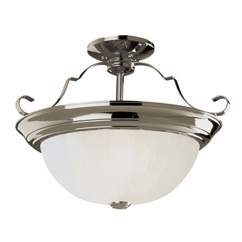 bel air lighting stewart 2 light brushed nickel cfl