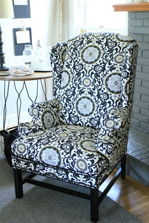 No Sew Reupholster by Reupholstering A Wingback Chair A No Sew Method Noting
