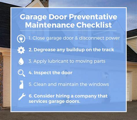 overhead door maintenance door maintenance checklist house home repair checklist