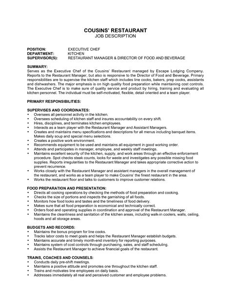 Hostess Description For Resume by Hostess Description For Resume Annecarolynbird