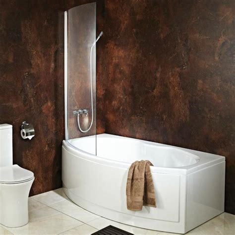 End Of Bath Shower Screen by Quot California Quot Bow Fronted Bath With Hinged Curved Shower