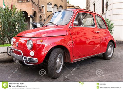 fiat 500 parked in rome editorial image image 35581320
