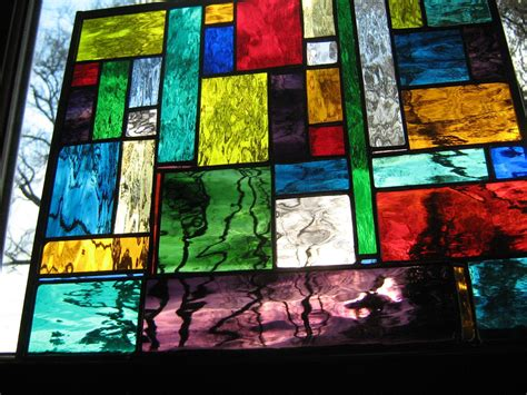 Color Glass stained glass water color stained glass panel custom just for