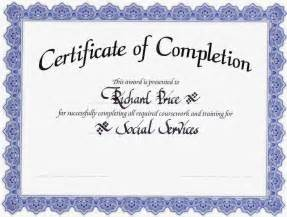 Blank Certificate Of Completion Templates Free 10 Best Images Of Certificate Of Completion Template