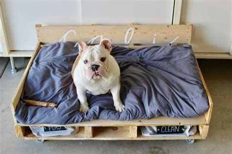 pallet dog bed plans pallet furniture plans that show us the fun part of recycling