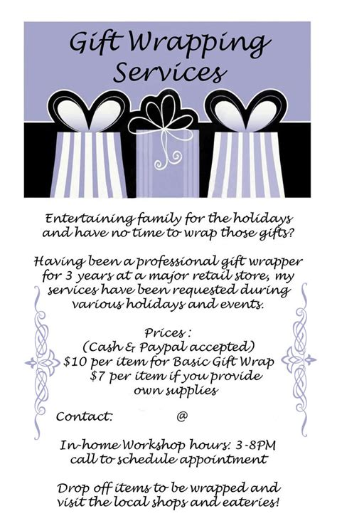 gift wrapping service gift wrapping services flyer by biothief on deviantart