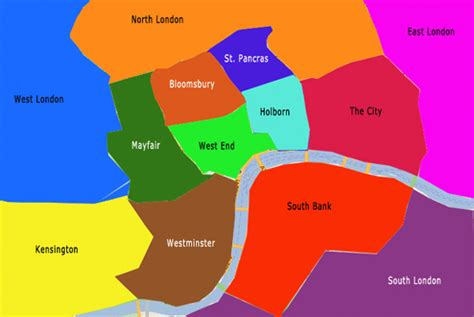 sections of london free london sightseeing map and guide