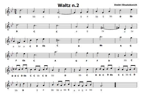 spartito valzer delle candele musica e spartiti gratis per flauto dolce waltz n 2 di