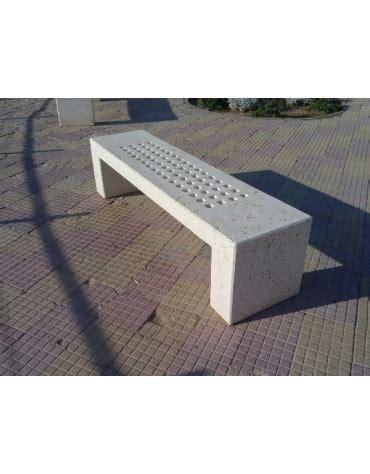 panchine in cemento prezzi panchina rettangolare monoblocco in calcestruzzo bianco