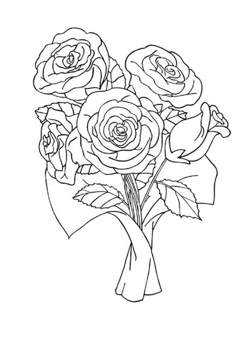 coloring pages of red roses i you rose colouring pages