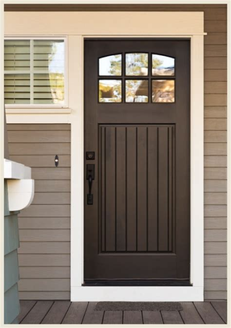 Front Door Color With Gray Siding Black Doors Give Even Gray Front Doors