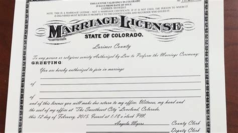 Colorado marriage license douglas county