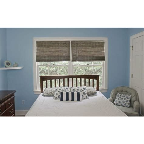 Driftwood L Shades by Home Decorators Collection Driftwood Flat Weave Bamboo