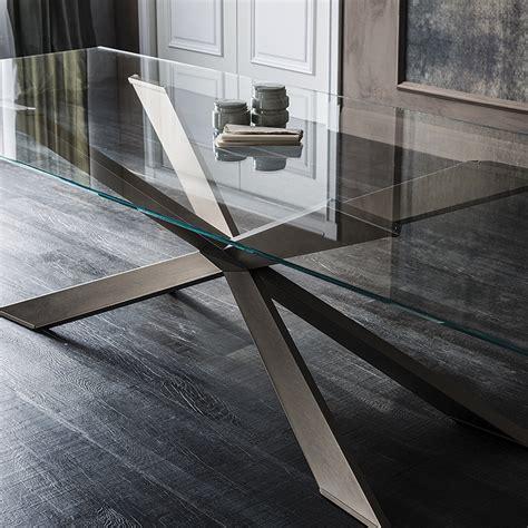 tavolo spyder cattelan italia vetro legno wood tavoli a