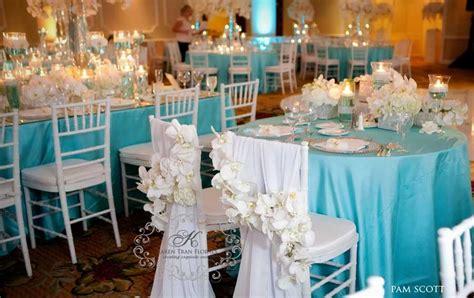 glamorous blue wedding at the hotel coronado reception details