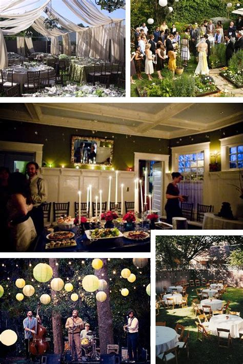 married  home wedding reception  home small