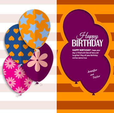 greeting card templates for birthday birthday greetings free vector 4 454 free vector