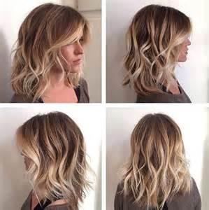 wavy lob haircut tutorial coupes cheveux mi longs pour 201 t 233 2016 30 mod 232 les