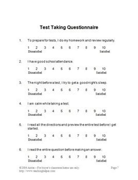 printable anxiety quiz study skills in this 23 page study skills unit you will