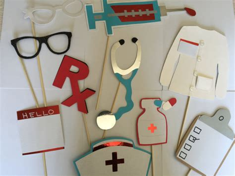 printable nurse photo booth props nurses or doctor photo booth props for grads and hospital