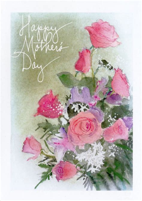happy mothers day love   mothers day card  recycled paper