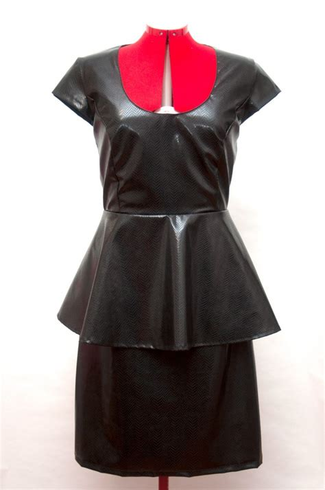vestido cuero vestido de cuero