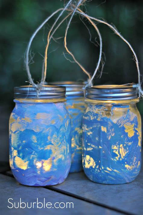 lanterns craft crafty diy jar lanterns suburble