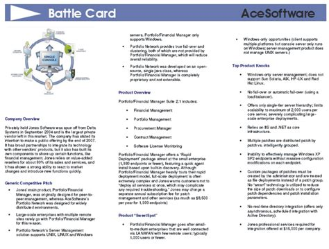 Contrez Vos Concurrents Avec Des Fiches Concurrentielles Les Battle Cards Battle Card Template
