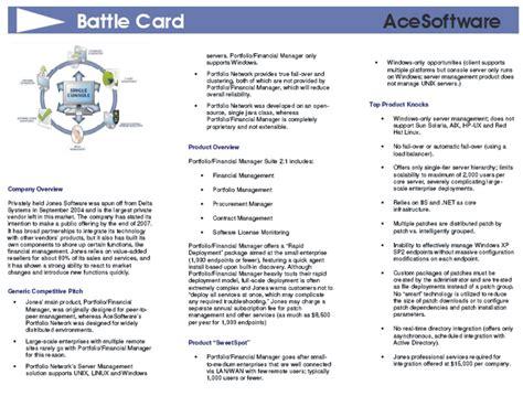Contrez Vos Concurrents Avec Des Fiches Concurrentielles Les Battle Cards Competitive Battlecard Template