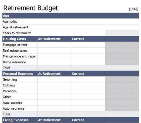 Comfortable Retirement Budget 28 Images Comfortable