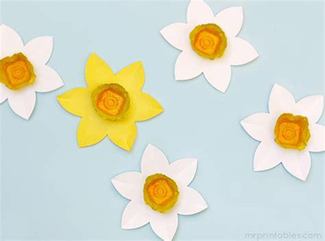 daffodil craft for egg daffodils mr printables