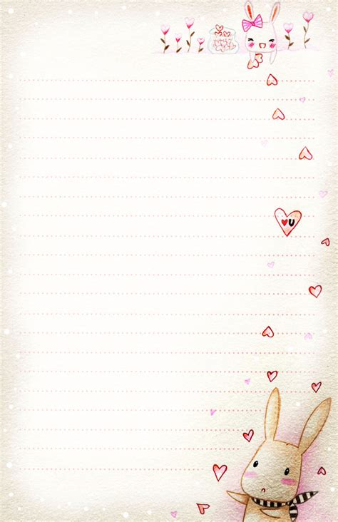 pretty paper to write letters on bunny letter paper by tho be on deviantart