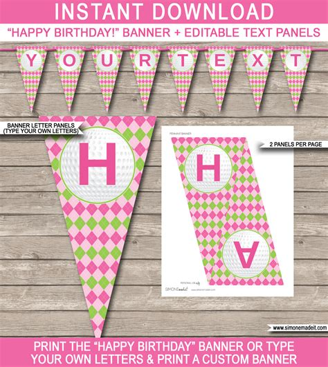 happy birthday banners templates golf birthday banner template birthday banner