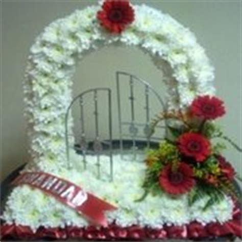 gates of heaven white funeral flowers verwood