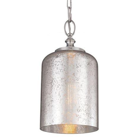 Nickel Mini Pendant Light Feiss Hounslow 1 Light Polished Nickel Mini Pendant P1320pn The Home Depot
