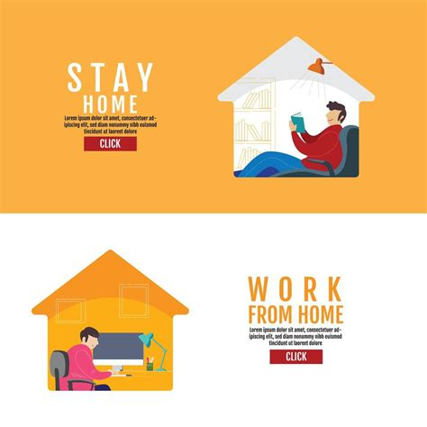 stay home work  home poster   vectors