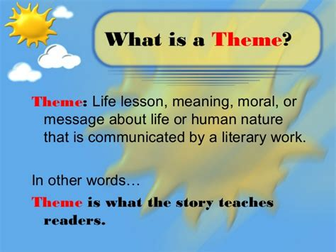 themes book meaning theme