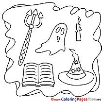 coloring book pitchfork coloring pages