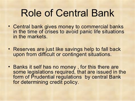 centra bank central banking the monetary policy