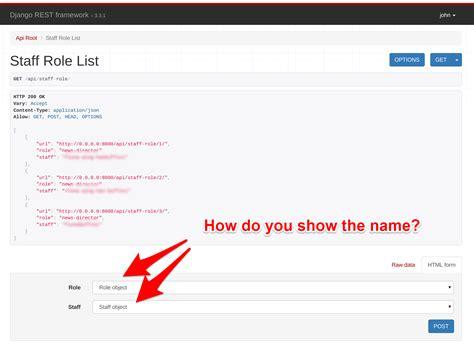 django creating user object how to show object details in django rest framework