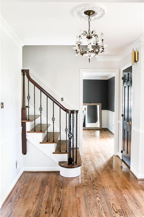 neutral painted foyer update bless er house